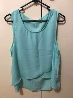 Valley girl baby blue tank top