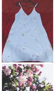 Stripes with floral details dress