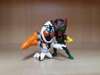 Kamen Rider OOO & FOURZE Gashapon figure set
