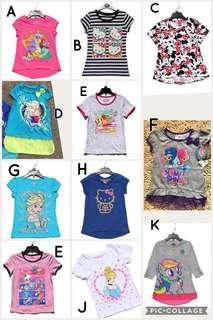 🚚 Authentic cotton TOP Tshirt for girl size 2-6yrs old