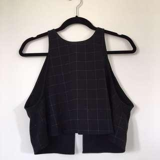 american apparel checkered top, backless