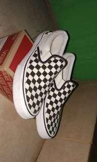 Vans checkerboard slip on Original 1x usage
