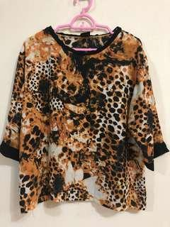 MK Animal Print Blouse Top