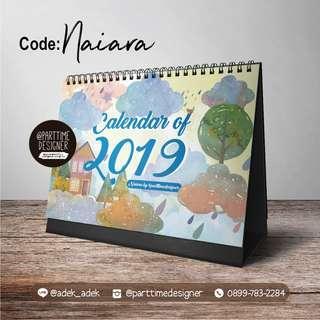 Naiara Kalender 2019 Watercolor Calendar