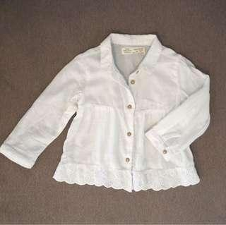 Zara girl blouse