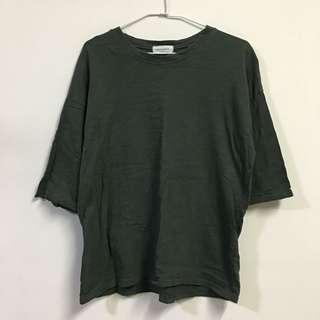 🚚 正韓 軍綠五分䄂竹節棉上衣