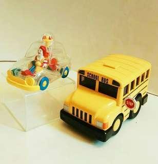 罕有绝版:麥當奴車+金屬校巴車 (歲月收藏品)