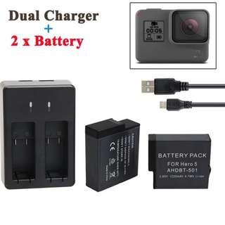 GoPro Hero 7 2pcs Battery With Charger
