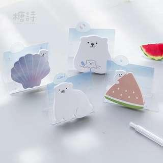 🚚 [In stock] Stand up Post It - Cute Polar Bear