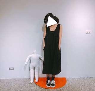 🚚 韓版 寬鬆棉麻無袖洋裝
