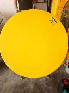 Yellow Plastic Table