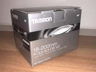 全新brand new in box Tamron 18-200mm F3.5-6.3 Di II VC(Model B018) Nikon mount