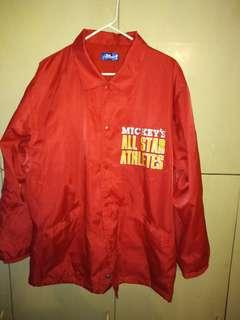 mickey disneyland wind breaker size L adult