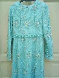 Set Reception wear in Tiffany blue