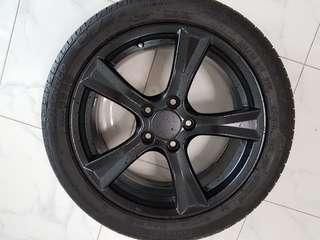 17 Inch Rims with tyres (Japan) (S2000)