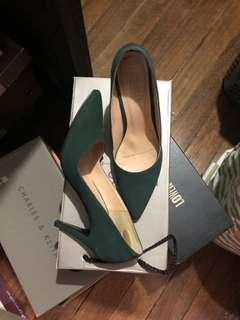 Moss Green Heeled Shoes