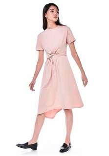 TEM Laguena Front-knot Midi Dress, Size S