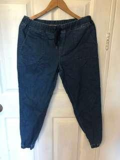 Uniqlo Denim Jogger Pants
