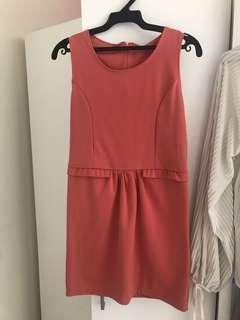 🚚 韓版氣質小洋裝 橘色