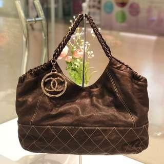 🧡Very Good Deal!🧡 Chanel Baby Cabas Tote in Brown Calfskin SHW