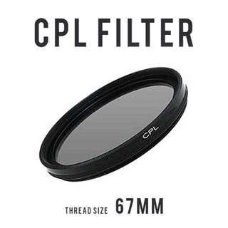 Circular Polarizer CPL Filter 67mm