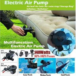[Kibot-Home]Portable AC Electric Air Pump Inflator Deflator Dual Mode Air Compressor Pump/3 Size Nozzles Tyres Toy Airbed Inflatable Balll Air Mattress Sofa Raft Swimming Float Vest Ring Boat/Compression Bags Inflate Deflate Pump