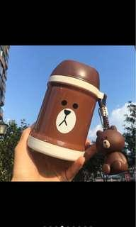 LINE FRIENDS BROWN Food Container✨