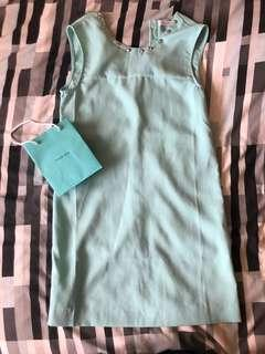 Tiffany blue studded shift dress