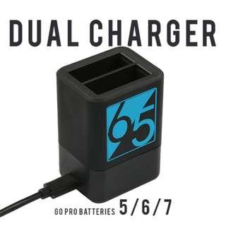 Dual charger for GoPro 5/ GoPro 6/ GoPro7