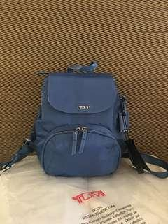 Special price: Bright blue Tumi Lady nylon backpack
