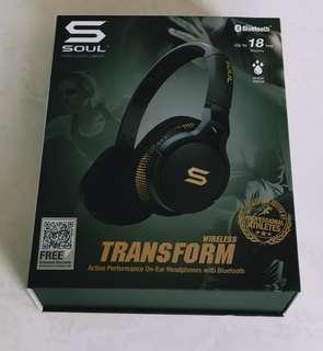 Brand New Sealed Soul Transform Wireless - Storm Black Bluetooth Headphones