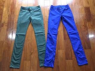 Uniqlo 98% cotton pants (size 22 and 23)