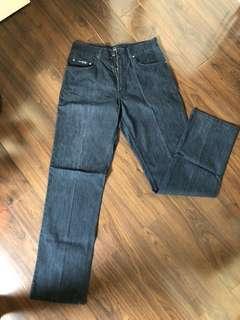 Dark Jeans cowok merk MCM