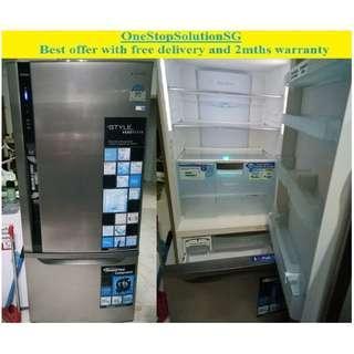Panasonic  (461L) Inverter, 2 doors huge fridge / refrigerator ($450 + free delivery and 2mths warranty)