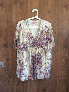TED BAKER Chiffon Babydoll top- Size 2