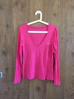 Authentic BEBE Hot Pink Top- Size L