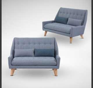 2 Seater Sofa fabric blue Ichiyo Sofa