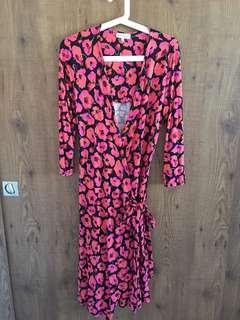WAREHOUSE Wrap Dress - Size UK10