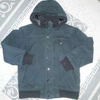 Men Black Winter Jacket XL RM15