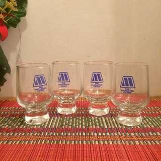 Vintage footed glasses The Mcalister Group 4 pcs