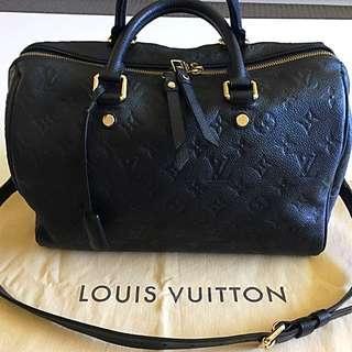 Authentic Louis Vuitton Empreinte Speedy 30 Banouliere Bag