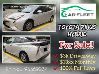 Toyota Prius Hybrid. $3,000 Downpayment ONLY!! Limited Units! Used Car.