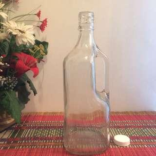 2L Big Classic glass bottle with handle