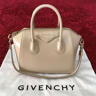 Authentic Givenchy Anitgona Small Nude Beige Tote Bag