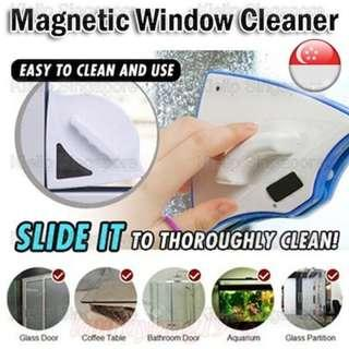 [Kibot-Home]Double Face Two Sided Magnetic Window Glass Cleaner Wiper Scrapper Kit/Effortless Safe Home Window Glass Cleaning Tool For Thickness 3-8mm Glass Panel/Clean Dust Dirt Sands Wash Shine Glass Window