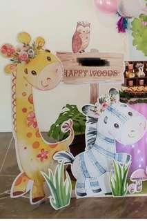 Dessert Table Animal Standees (Rent)