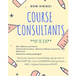 **UP TO $3K** Course Consultants
