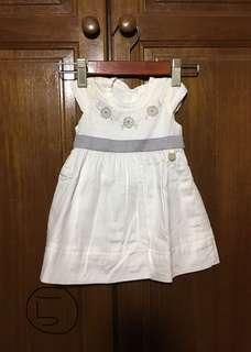 Trudy & Teddy white dress 0-3m