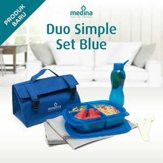 Lunch Set Duo Simple Set Biru