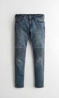 🚚 NWT Authentic Hollister mens moto jeans size 34 length 30